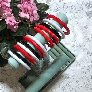 💎12 Bracelet Bundle!Thin faceted acrylic bangles!